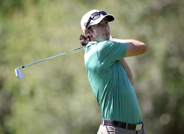 PALM HARBOR, FL - MARCH 15: Cameron Tringale plays a shot on the 17th hole during the first round of the Transitions Championship at Innisbrook Resort and Golf Club on March 15, 2012 in Palm Harbor, Florida. (Photo by Sam Greenwood/Getty Images)