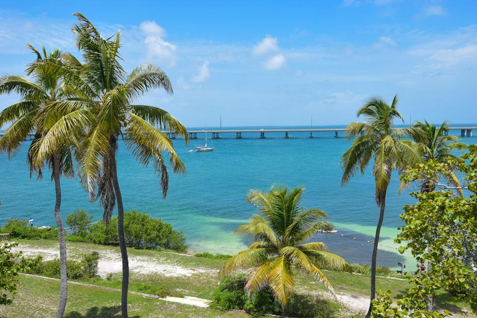 """<p><strong>Best camping in Florida:</strong> Bahia Honda State Park</p> <p>Sip your morning coffee with a view of the electric blue waters of the <a href=""""https://www.cntraveler.com/destinations/key-west?mbid=synd_yahoo_rss"""" rel=""""nofollow noopener"""" target=""""_blank"""" data-ylk=""""slk:Florida Keys"""" class=""""link rapid-noclick-resp"""">Florida Keys</a>. Bahia Honda's white sand beaches, frilly palm trees, epic snorkeling, and impeccable night skies feel more like the <a href=""""https://www.cntraveler.com/gallery/this-is-the-best-caribbean-island-for-you?mbid=synd_yahoo_rss"""" rel=""""nofollow noopener"""" target=""""_blank"""" data-ylk=""""slk:Caribbean"""" class=""""link rapid-noclick-resp"""">Caribbean</a> than the U.S.</p>"""