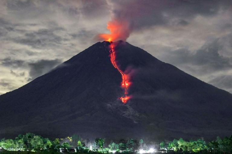 Indonesia has been hit by a series of natural disasters this week; on Saturday night a volcano shot ash and debris into the sky, though there were no casualties reported