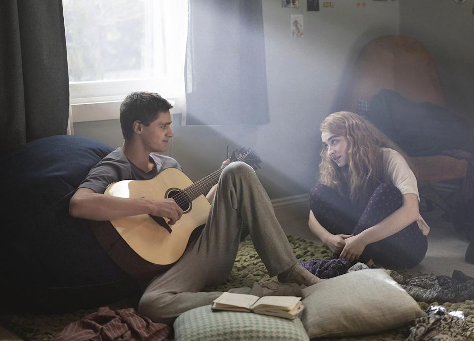 Fin Argus, Sabrina Carpenter in Clouds. A teenager is diagnosed with a rare form of bone cancer and finds a way to inspire others with the little time he has left. (Disney/ Laurent Guerin)