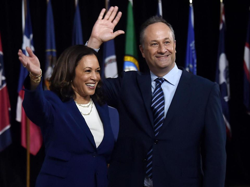 Related video: Kamala Harris made her first appearance on Wednesday as Joe Biden's running mate (AFP via Getty Images)