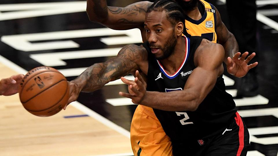 Los Angeles Clippers star Kawhi Leonard is likely to miss more than half the season after injuring his ACL during last season's playoffs. (Photo by Keith Birmingham/MediaNews Group/Pasadena Star-News via Getty Images)