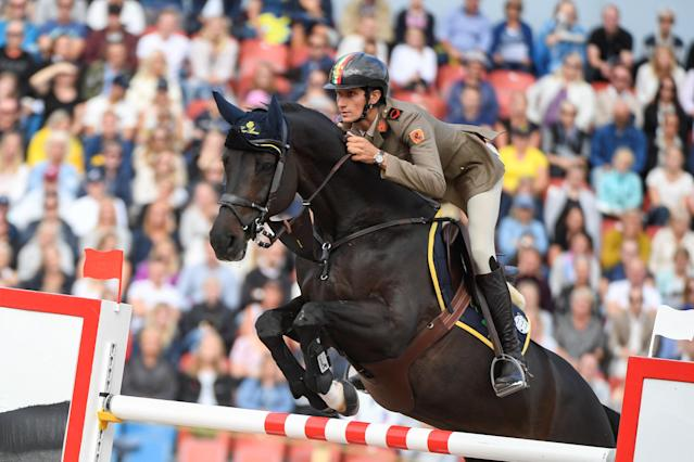 Equestrian - FEI European Championships 2017 - Jumping Individual Final - Ullevi Stadium, Gothenburg, Sweden - August 27, 2017 - Alberto Zorzi of Italy on his horse Cornetto K jumps. TT News Agency/Pontus Lundahl via REUTERS ATTENTION EDITORS - THIS IMAGE WAS PROVIDED BY A THIRD PARTY. SWEDEN OUT. NO COMMERCIAL OR EDITORIAL SALES IN SWEDEN