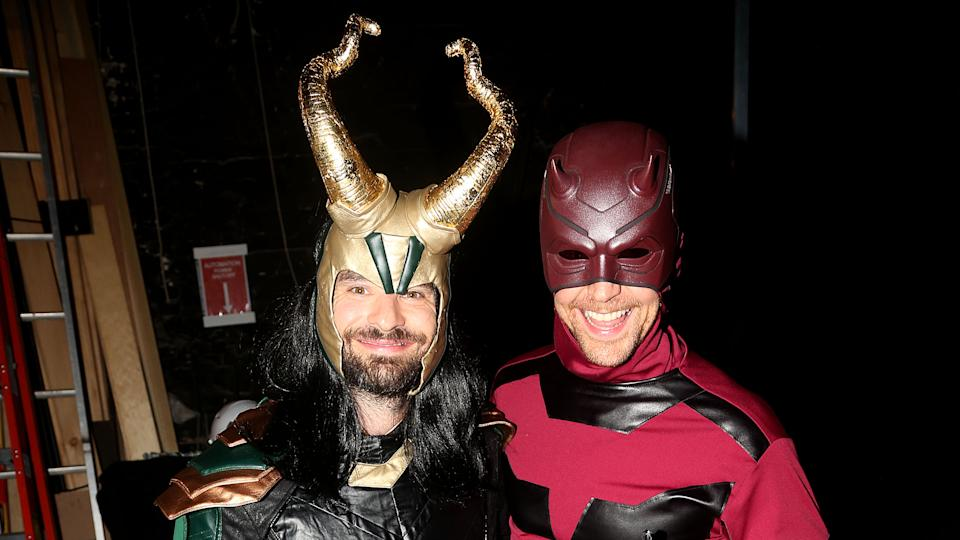 Tom Hiddleston and Charlie Cox swap super costumes for Halloween