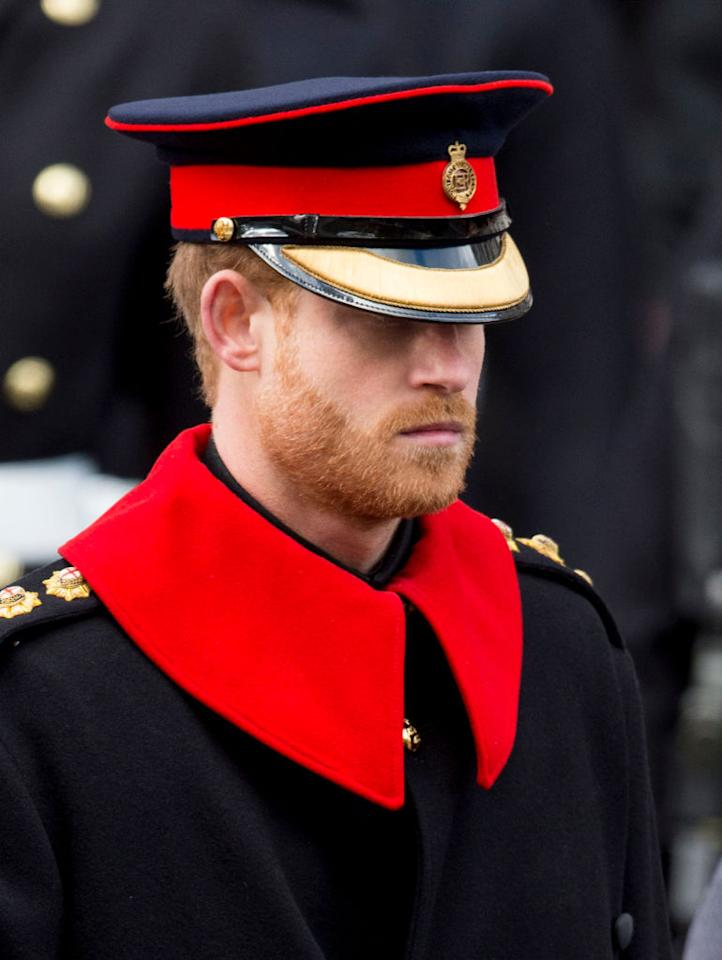 "<p>Historically, full facial beards have aways been forbidden while on official duty (although some officers have been known to wear moustaches). A member of the elite cavalry regiment <a rel=""nofollow"" href=""http://www.mirror.co.uk/news/uk-news/prince-harry-breaks-military-rules-11509173"">told <em>The Mirror</em></a>. ""Prince Harry is letting us all down. There's no place for beards in the Queen's cavalry."" <em>(Photo: Getty)</em> </p>"