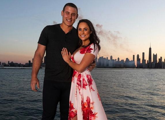 Anthony Rizzo got engaged to girlfriend Emily Vakos. (Anthony Rizzo on Instagram)