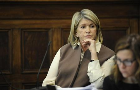 Martha Stewart sits on the witness stand during testimony in Manhattan Supreme Court March 5, 2013 in New York. REUTERS/David Handschuh/New York Daily News/Pool
