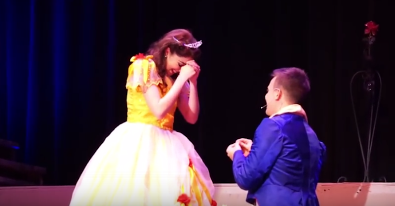 """This adorable """"Beauty and the Beast"""" proposal has us believing in happily ever after"""