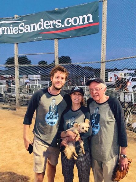 Susan shared this snap of herself, her son Jack and Bernie Sanders on August 20. Photo: Instagram/susansarandon.