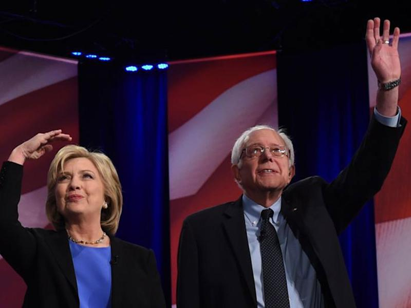Mr Sanders was among the 2016 Democratic primary candidates but later endorsed Ms Clinton following her selection as the Democratic nominee. He also campaigned for her election: AFP