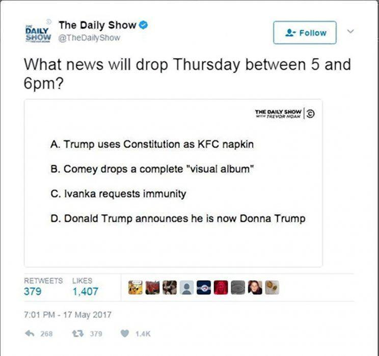 Photo: The Daily Show via Twitter