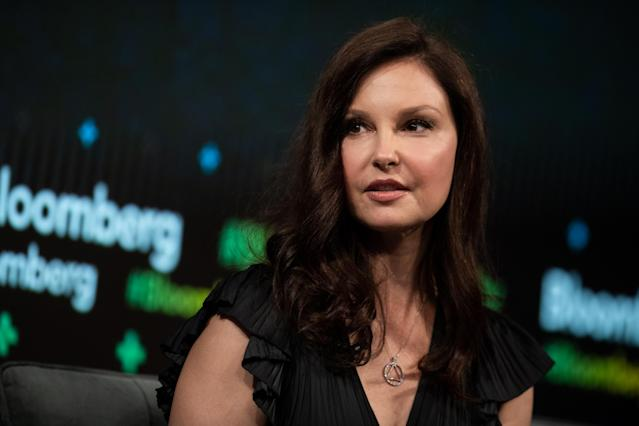 Ashley Judd, pictured during the Bloomberg Business of Equality conference on May 8, was the first actress to go on the record about Weinstein with the New York Times. (Photo: Mark Kauzlarich/Bloomberg via Getty Images