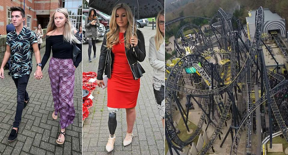 Leah Washington (left) and Vicky Balch are said to have taken legal action against Alton Towers. (PA)