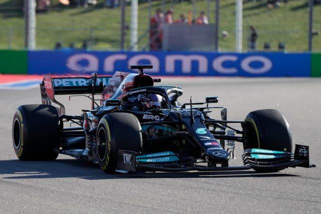 Lewis Hamilton in action during second practice