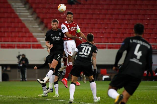 Pierre-Emerick Aubameyang scored twice to seal victory for Arsenal