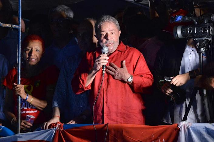 Former Brazilian president Luiz Inacio Lula da Silva faces money-laundering charges related to a multibillion-dollar corruption scandal centered on state oil company Petrobras (AFP Photo/Nelson Almeida)