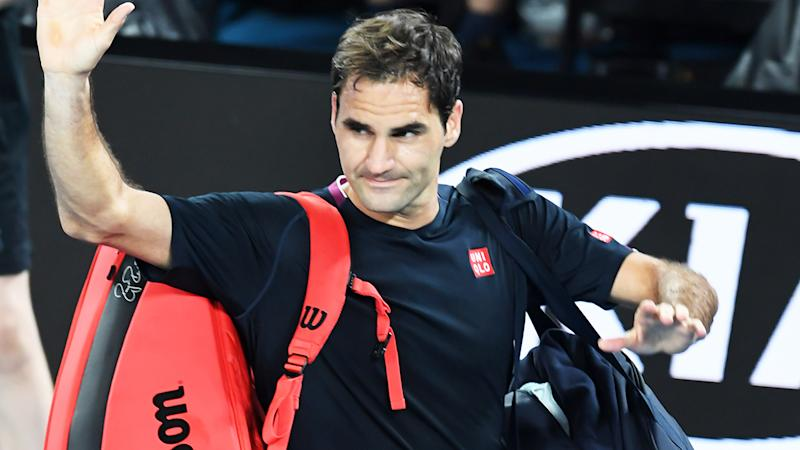 Roger Federer, pictured here after losing at the Australian Open.