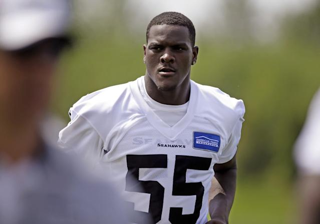 "<a class=""link rapid-noclick-resp"" href=""/nfl/players/28451/"" data-ylk=""slk:Frank Clark"">Frank Clark</a> found himself in the social media spotlight for the wrong reasons. (AP)"