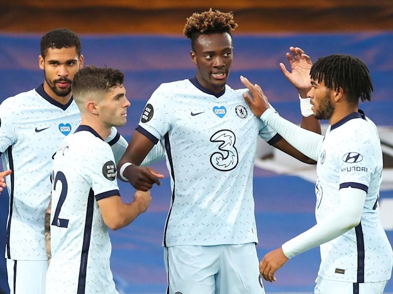 Tammy Abraham ended his goal drought with Chelsea's third: EPA