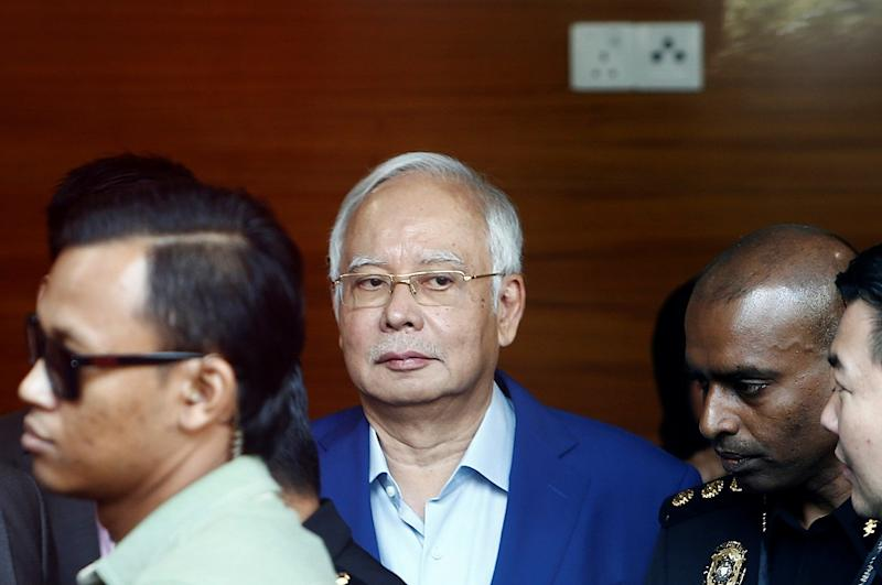 Former prime minister Datuk Seri Najib Razak arrives to give a statement to the Malaysian Anti-Corruption Commission in Putrajaya May 22, 2018. — Reuters pic