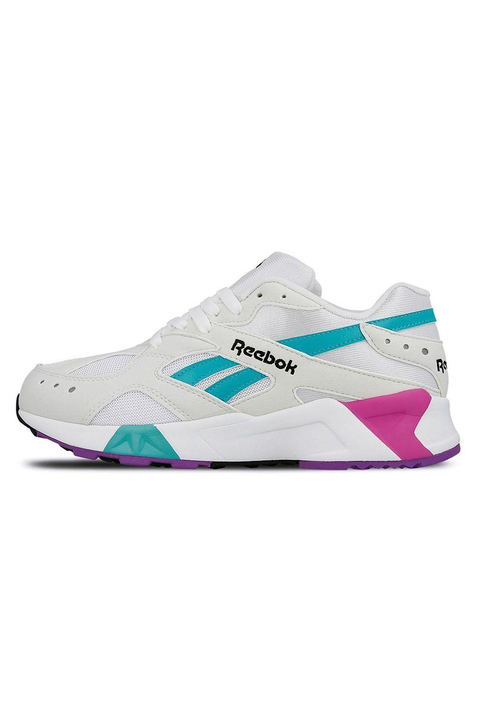 """<p><strong>reebok</strong></p><p>reebok.com</p><p><strong>$79.97</strong></p><p><a href=""""https://go.redirectingat.com?id=74968X1596630&url=https%3A%2F%2Fwww.reebok.com%2Fus%2Faztrek-shoes%2FDV3747.html&sref=https%3A%2F%2Fwww.cosmopolitan.com%2Fstyle-beauty%2Fbeauty%2Fg33482166%2Feditor-picks-cosmo-klarna-hauliday-2020%2F"""" rel=""""nofollow noopener"""" target=""""_blank"""" data-ylk=""""slk:Shop Now"""" class=""""link rapid-noclick-resp"""">Shop Now</a></p><p>""""I've had my eye on these Reebok Aztrek <a href=""""https://www.cosmopolitan.com/style-beauty/fashion/g27104379/summer-sneakers-for-women/"""" rel=""""nofollow noopener"""" target=""""_blank"""" data-ylk=""""slk:shoes"""" class=""""link rapid-noclick-resp"""">shoes</a> for SO LONG, and I can't wait to finally cop a pair. Not only am I obsessed with their retro vibe, <strong>they're perfect for my daily WFH walk <em>and</em> my IG feed.""""</strong>—<em>Nia Chavez, Snapchat motion designer</em></p><p><strong><strong><strong><strong><strong><strong>💫</strong></strong></strong></strong></strong>PROMOTION:</strong> Enjoy 40% off all items with the code <strong>KLARNAHAULIDAY</strong>.<br></p>"""
