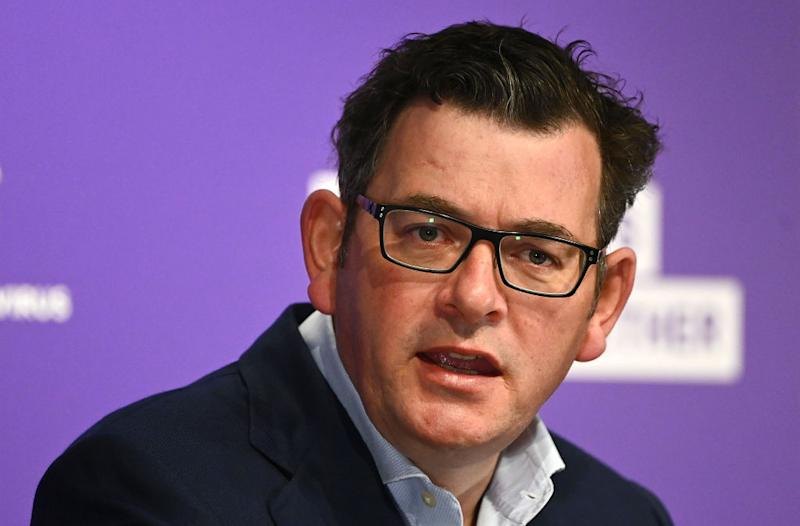 Victorian Premier Daniel Andrews has implored people to keeping coming forward for testing. Source: Getty