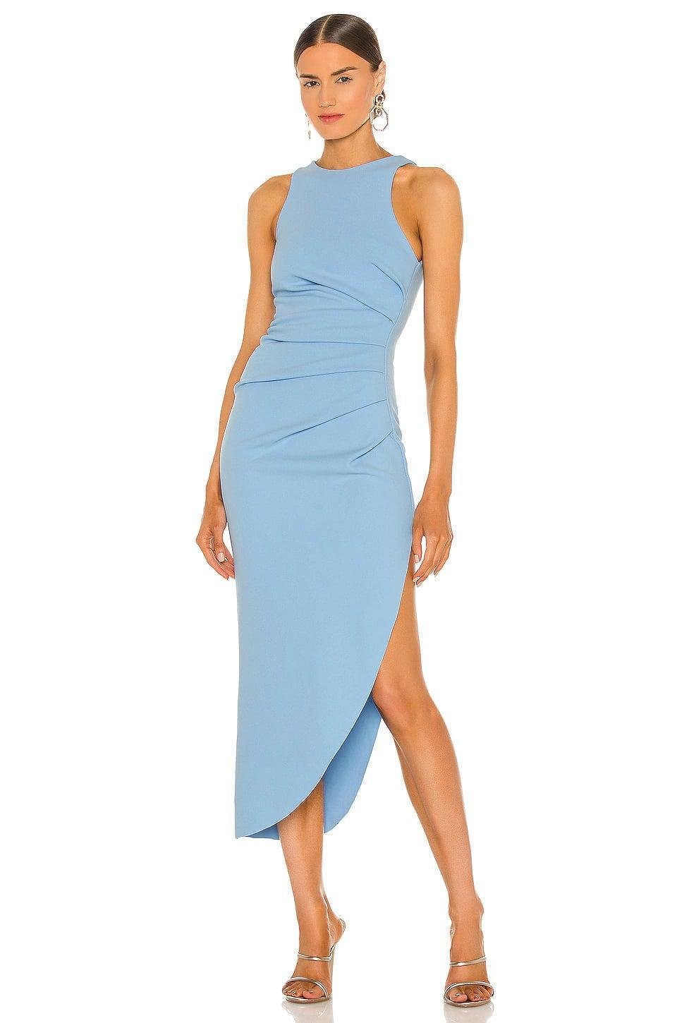 <p>This <span>Misha X Revolve Ida Dress</span> ($299) is always an appropriate pick. If you're confused at all by the dress code, this is a safe bet.</p>