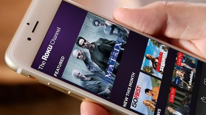 The Roku Channel on a smartphone.