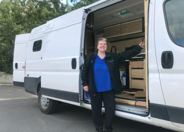Amy Hrebien says moving into her van is the only way she can afford to own her own place in Whitehorse with the high rental rates in the city. She isn't alone. (Danielle d'Entremont/ CBC - image credit)