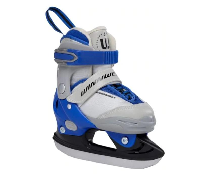 "Introduce the kid in your life to Canada's great outdoor pastime with a pair of skates! Get these balance blades for $55.99 at <a href=""https://www.canadiantire.ca/en/pdp/balance-blades-youth-blue-0838386p.html#srp"" target=""_blank"" rel=""noopener noreferrer"">Canadian Tire</a>."