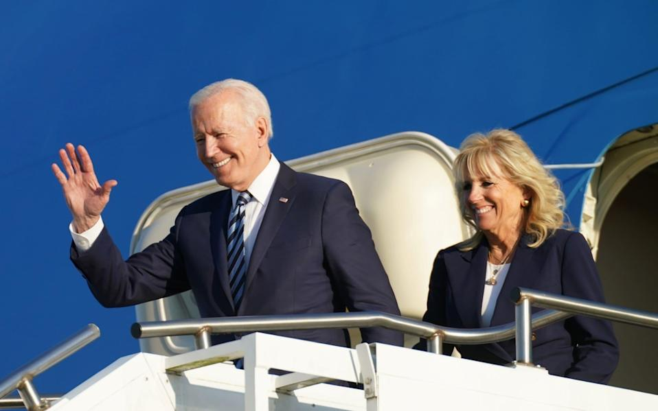 President Biden arrives in the UK ahead of the G7 summit - REUTERS