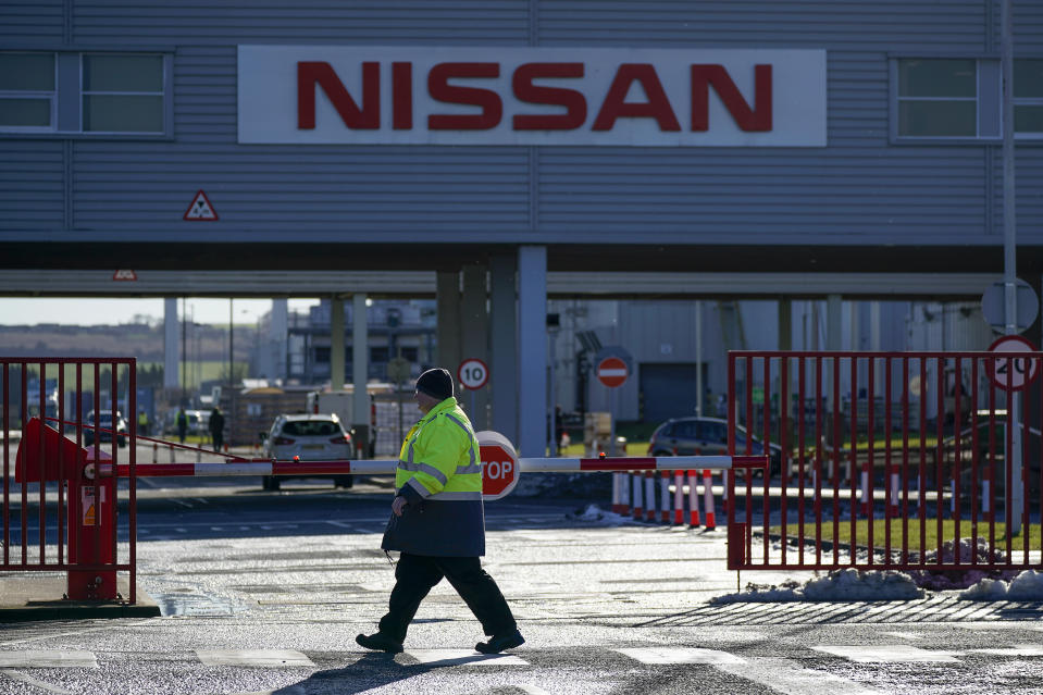 SUNDERLAND, ENGLAND - FEBRUARY 04: A general view of signage at the Sunderland car assembly plant of Nissan on February 04, 2019 in Sunderland, England. Nissan has announced to workers that the next-generation X-Trail will be made in Japan and not at it's Sunderland manufacturing plant. (Photo by Christopher Furlong/Getty Images)