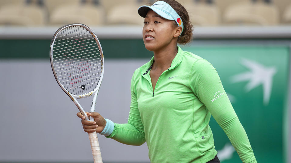 Naomi Osaka last week announced she would not be doing any media interviews throughout the French Open. (Photo by Tim Clayton/Corbis via Getty Images)