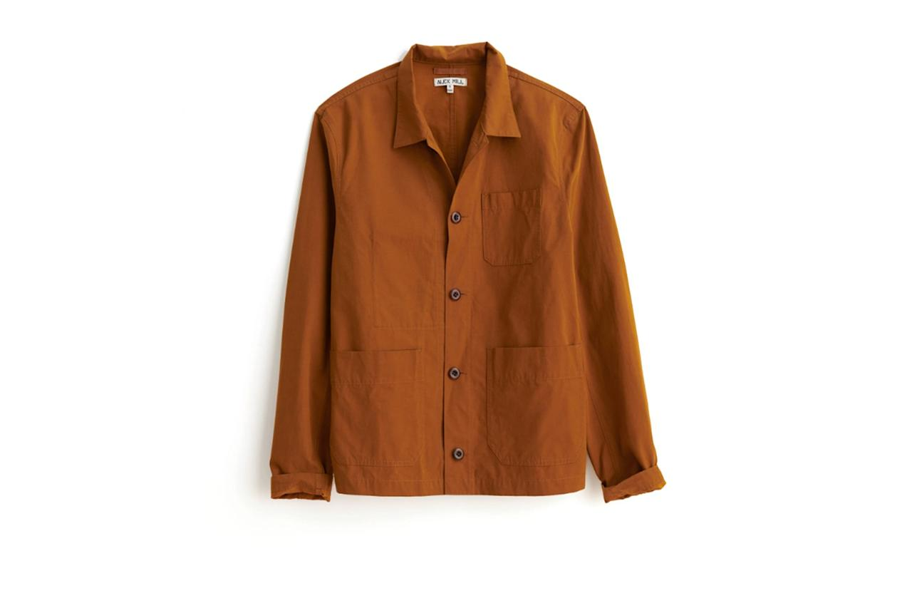 """$155, Alex Mill. <a href=""""https://www.alexmill.com/collections/all-mens/products/garment-dyed-work-jacket"""">Get it now!</a>"""