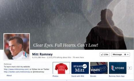 The rallying cry used by the Dillon Panthers in Friday Night Lights has been co-opted in photos on Mitt Romney's Facebook page.