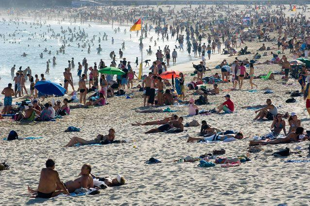A crowded Bondi Beach on a summer's day. File pic. Source: Getty Images