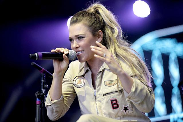 <p>Rachel Platten speaks on Fremont Stage during day 3 of the 2017 Life Is Beautiful Festival on September 24, 2017 in Las Vegas, Nevada.<br>(Photo by FilmMagic/FilmMagic) </p>