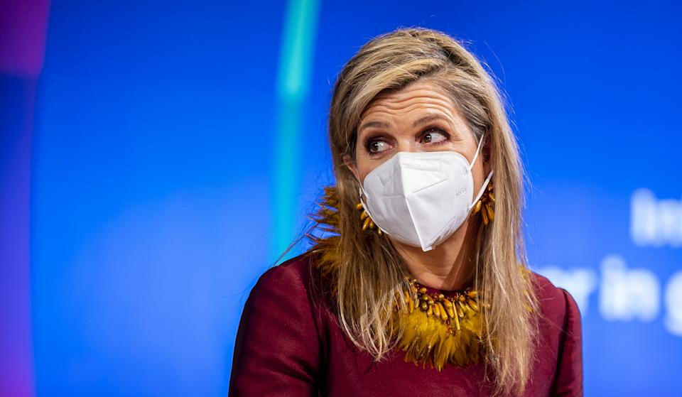 Dutch Queen Maxima takes part in the event to launch the