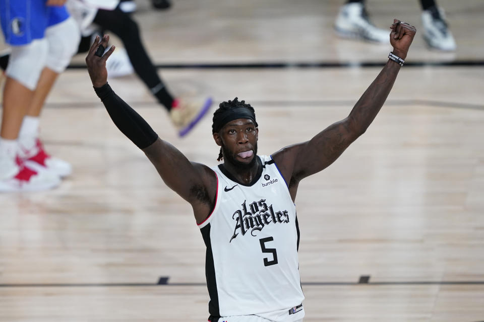Sixth Man of the Year Montrezl Harrell is moving across the hall at Staples Center, from the Clippers to the Lakers. (Ashley Landis-Pool/Getty Images)
