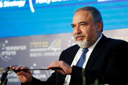 Israeli Defence Minister Avigdor Lieberman attends the Herzliya Conference, in Herzliya, Israel, May 10, 2018. REUTERS/Nir Elias/File Photo