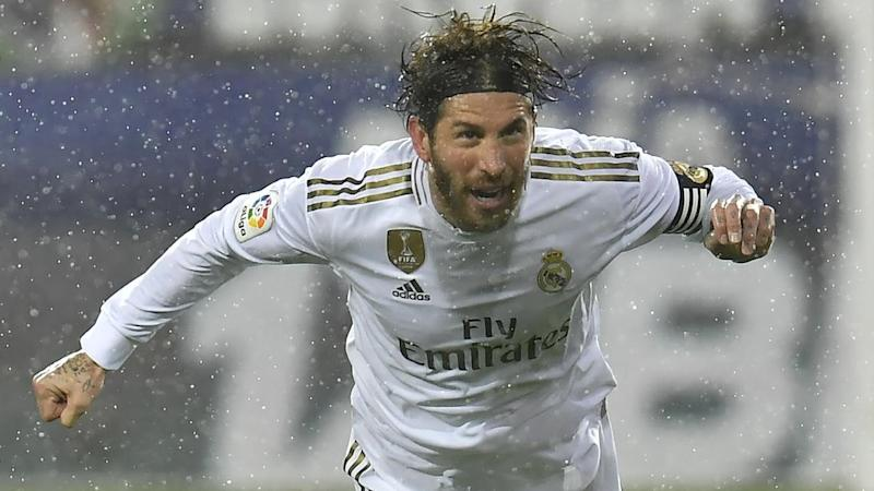 Captain Sergio Ramos netted for Real Madrid in their 4-0 thumping of Eibar in Spain's La Liga