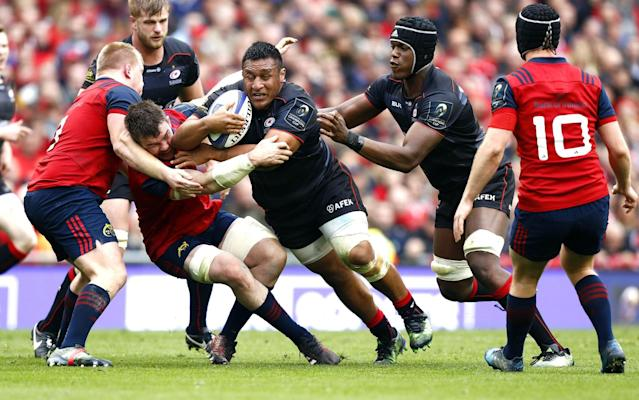<span>Mako Vunipola's try was a sucker-punch for Munster</span> <span>Credit: Rex </span>