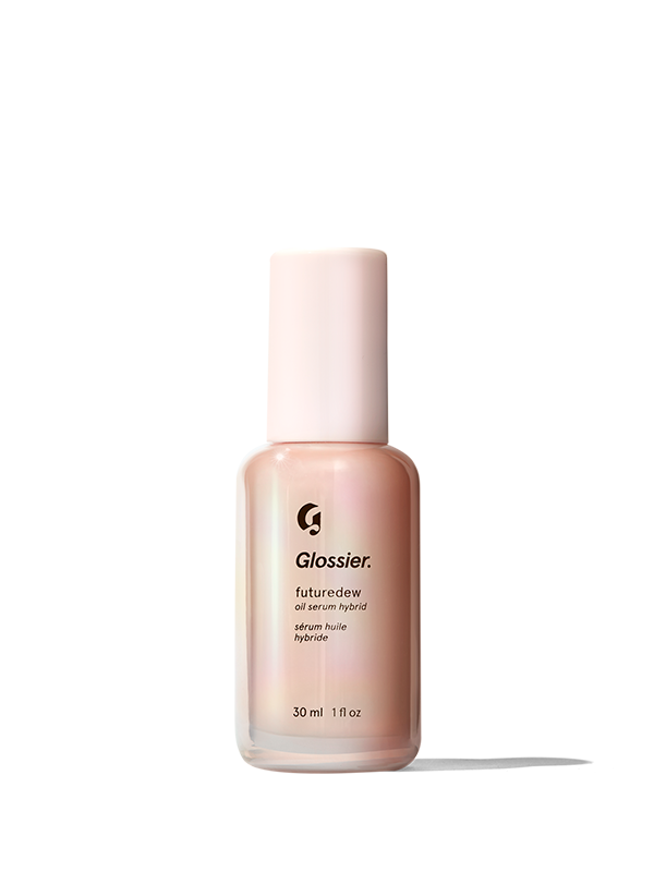 """<h3>Futuredew</h3> <br>Think of this product as strobed skin in a bottle. It's not an oil, not a serum, but rather — both at once. If you're on the oily side, you may want to press pause (or proceed with caution), since the stuff can feel a tad intense. That said, it truly does deliver a gleaming complexion that will make you feel like you're starring in your very own Glossier campaign.<br><br><strong>Glossier</strong> Futuredew, $, available at <a href=""""https://glossier.79ic8e.net/65ZEr"""" rel=""""nofollow noopener"""" target=""""_blank"""" data-ylk=""""slk:Glossier"""" class=""""link rapid-noclick-resp"""">Glossier</a><br>"""