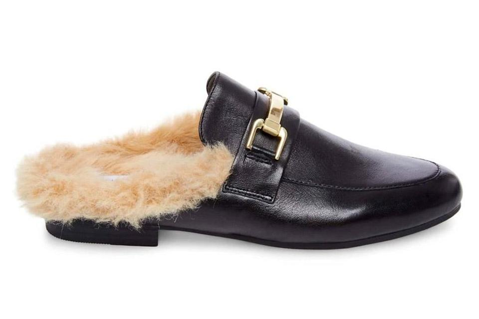 loafers, furry, steve madden
