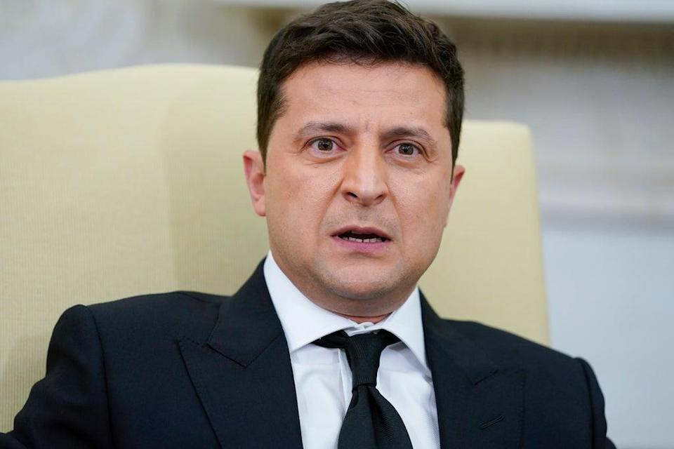 Volodymyr Zelensky co-owned a firm that used the offshore banking system (AP)