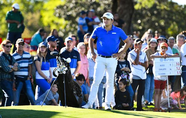 """<div class=""""caption""""> Galletti played the PGA Tour Latinoamerica in 2019 before dealing with multiple injuries. </div> <cite class=""""credit"""">Enrique Berardi/PGA Tour</cite>"""