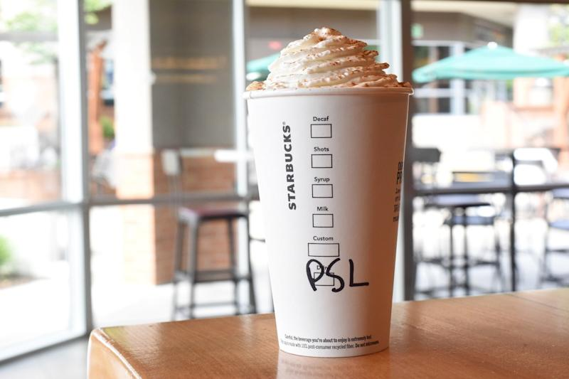 Starbucks and SkinnyDip London Collaborated on Pumpkin Spice Latte Nail Decals