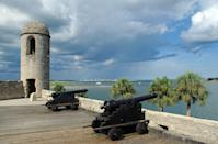"""<p>Forget Orlando or Miami—St. Augustine is historic and beautiful. It's the oldest city in the United States and is most known for the Spanish colonial architecture that makes you feel like you're actually somewhere in Europe. At the same time, though, you get the perfect sandy beaches of the Atlantic. Spend some time at <a href=""""https://www.nps.gov/casa/index.htm"""" rel=""""nofollow noopener"""" target=""""_blank"""" data-ylk=""""slk:Castillo de San Marcos"""" class=""""link rapid-noclick-resp"""">Castillo de San Marcos</a>, a 17th century Spanish stone fortress, in between beach days.<br></p>"""