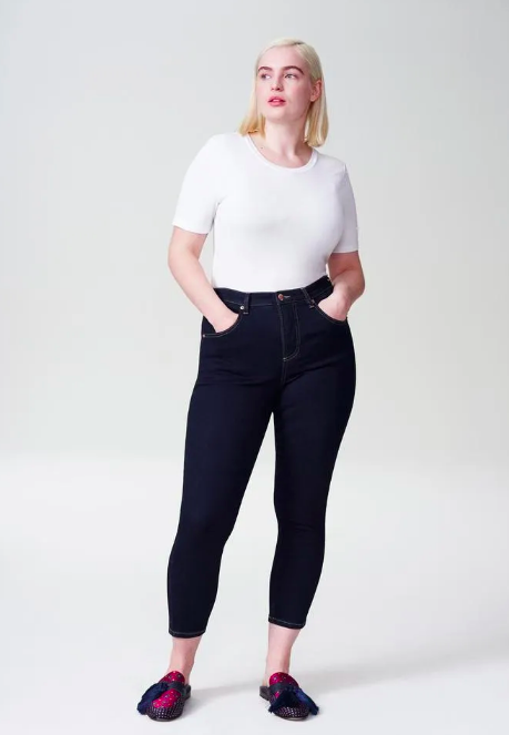 "Seine High Rise Skinny Jeans 27"" (Photo via Universal Standard)"