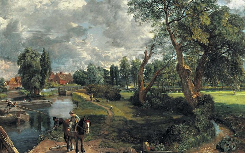 Flatford Mill, by Constable, owned by the painter's father - Tate Britain